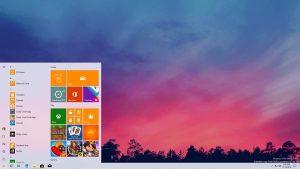Windows 10 jasny styl