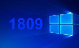 Windows 10 1809 Update