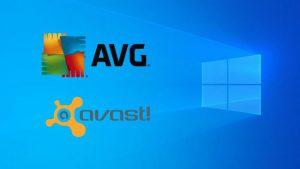 Windows 10 - AVG, Avast