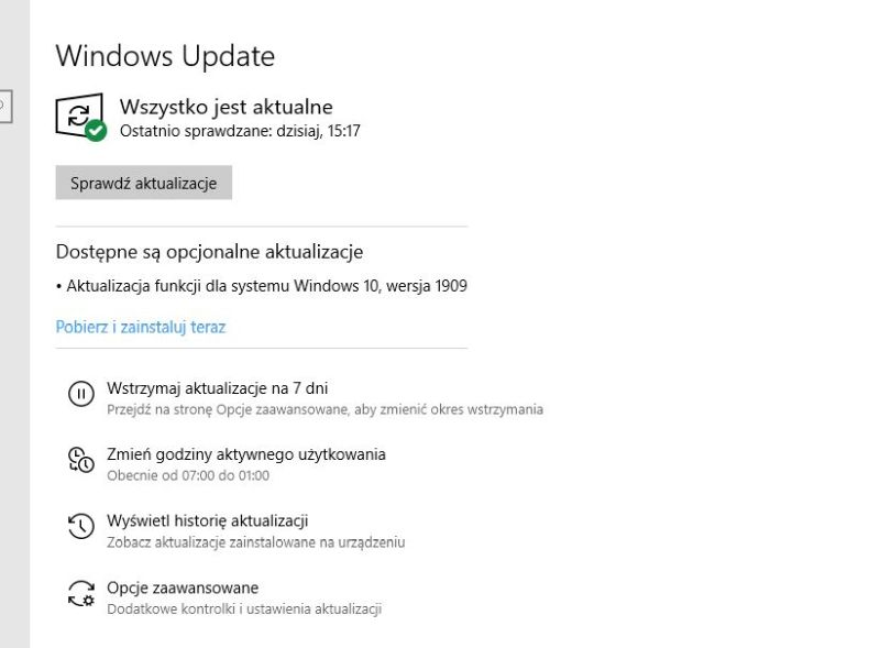 Windows Update - 1909
