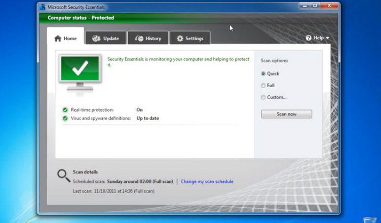 Windows 7 - Microsoft Security Essentials