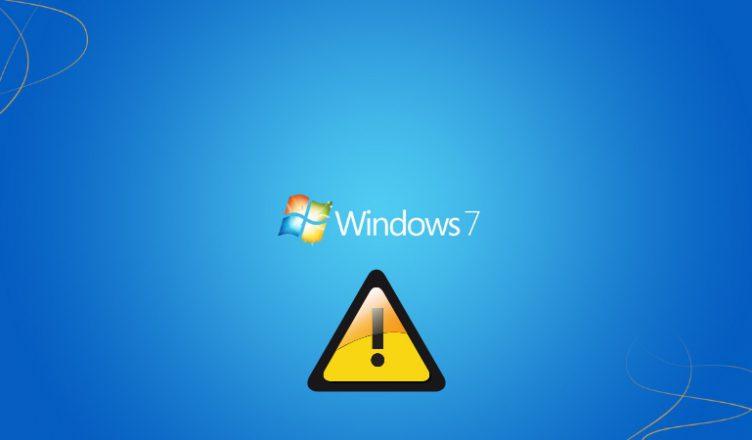 Windows 7 ostrzezenie