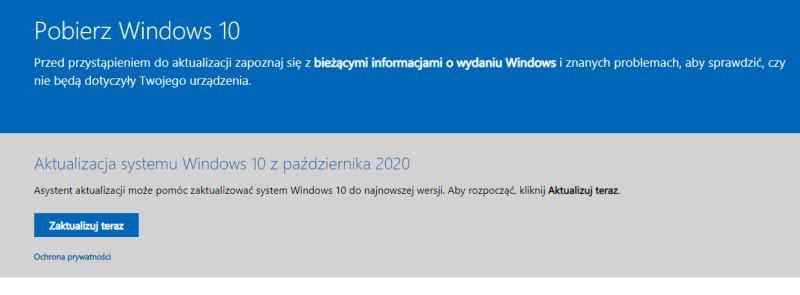 Asystenta Aktualizacji Windows 10