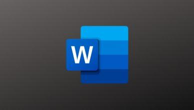 Word logo - ciemny tryb