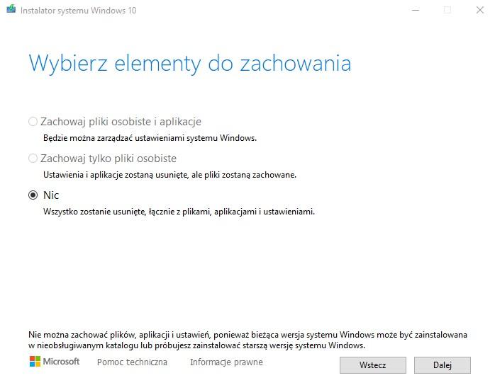 Windows 10 - instalator