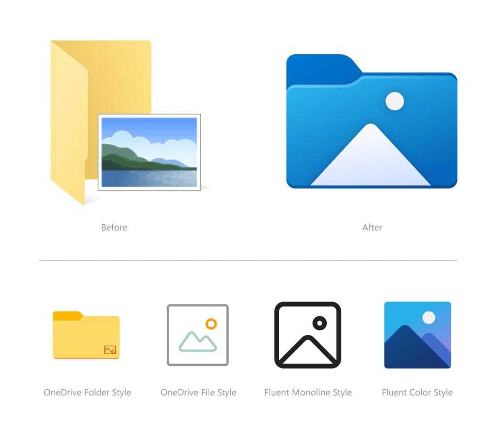 Nowe ikony w Eksploratorze Plików - Windows 10