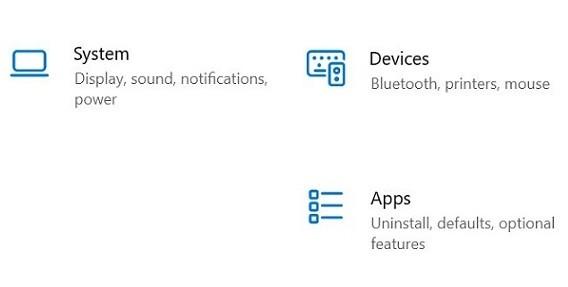 Ikony w Windows 10 21H2